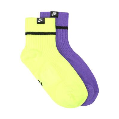 Medias Nike Snkr Ankle 2Pr - Hi Viz
